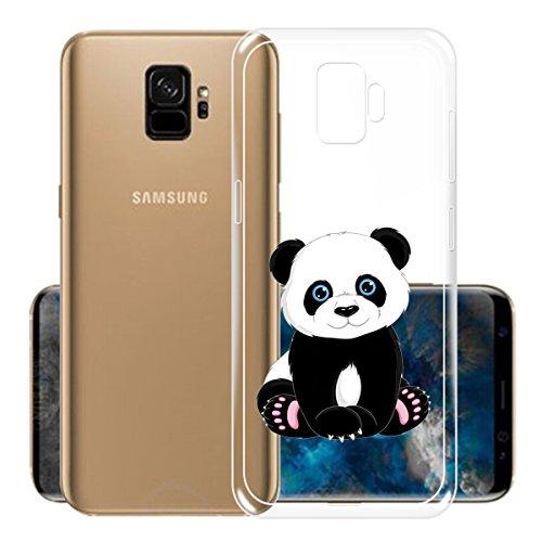 Funda para Samsung Galaxy S9 , IJIA Transparente Rojo Pequeño Meng Pet TPU Silicona Suave Cover Tapa Caso Parachoques Carcasa Cubierta para Samsung Galaxy S9 (5.8) WM135