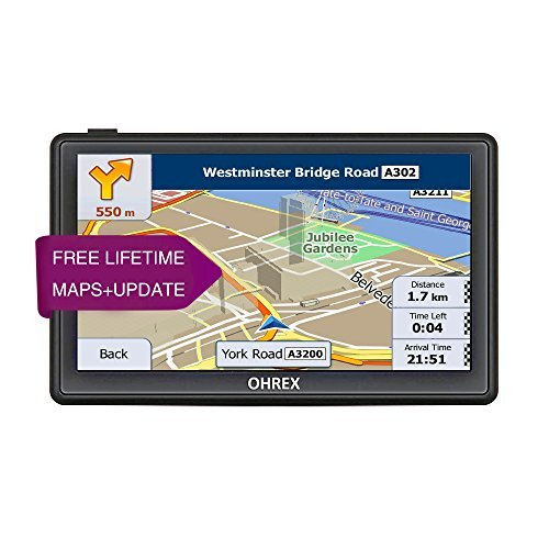 OHREX 7 Inch Portable Car Truck GPS Navigation with Lifetime Maps and Traffic