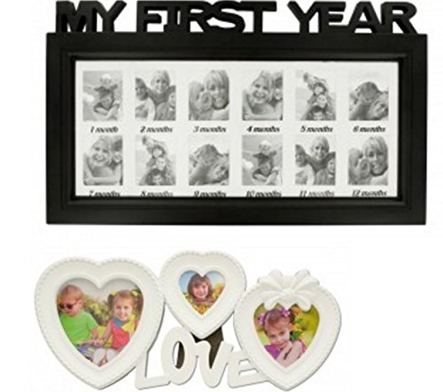 HomeTizz Baby First Year Photo Frame & Love Collage Photo Frame ...