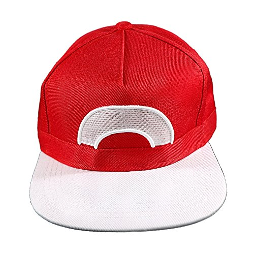 Pokemon Ash Ketchum Satoshi Snapback Hat Cap One Size Unisex Cosplay Costume - Ash From Pokemon Costumes