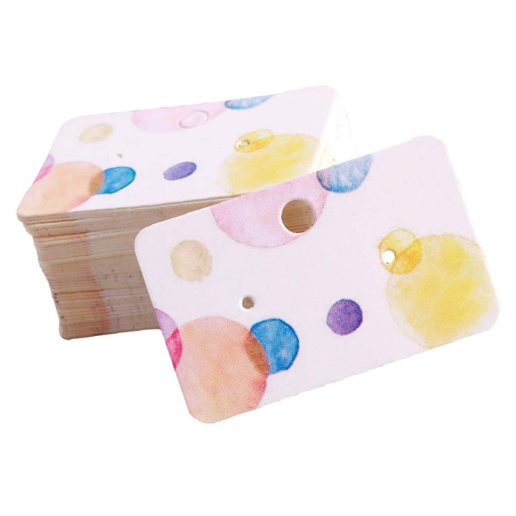 non-brand Homyl Carta Display Imballaggio Orecchini Gioielli Carta Visualizzazione Etichette Pieghevoli Fenicottero