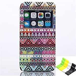 QJM Stripe Pattern PU Leather Full Body Case Have A Perfume and Phone Holder for iPhone 6 Plus