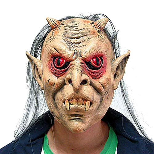 Masks Halloween Christmas Masquerade Horror Grimace Red-Eyed Gray-haired
