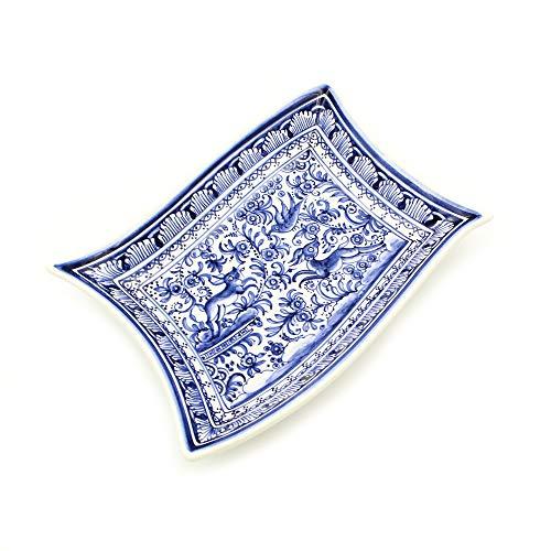 Madeira House Coimbra Ceramics Hand-Painted Decorative Tray XVII Century Replica #193-3