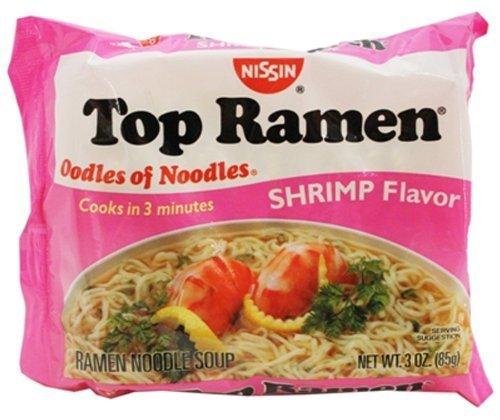 (Nissin Top Ramen Noodles Shrimp Flavor - 5 Pack)