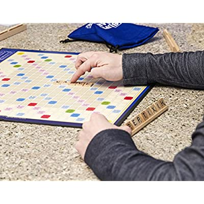 Super Scrabble - The Super-Sized Version of the Greatest Word Game of All Time - 2 to 4 Players - Ages 8 and Up: Toys & Games