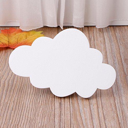 Walnut Finish Pendants - qiumeixia1 10Pcs Cute Cloud Hooks Wooden Clothes Hanger Wall Decor Children Bedroom Pendant