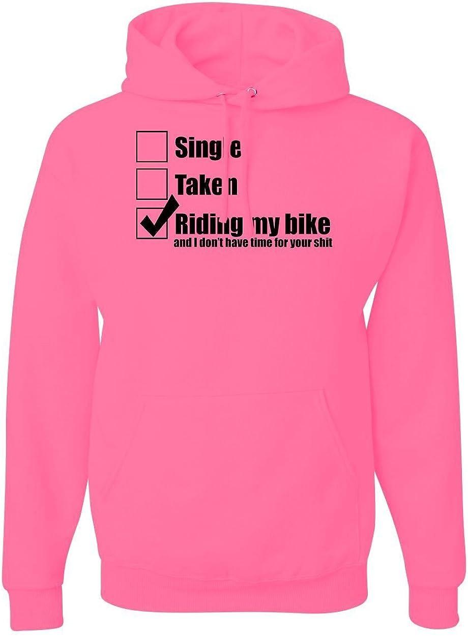 Large MxMegastore Riding My Bike Graphic Hoodies Pink