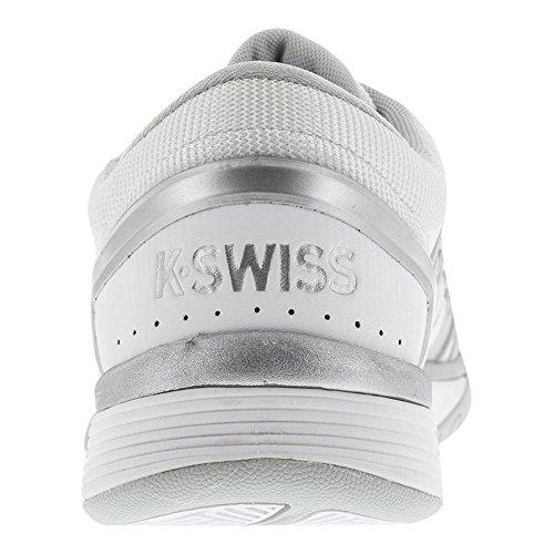 K-Swiss Frauen Hypercourt 2.0 Weiß / Gletschergrau / Silber
