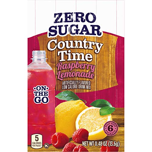 Raspberry Lemonade Punch (Country Time On-The-Go Zero Sugar Raspberry Lemonade Powdered Drink Mix, 6 ct -)