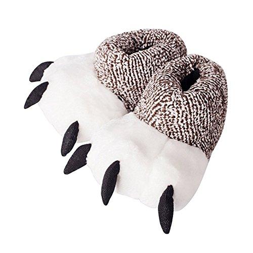 Antidérapant Pantoufles Slipper Hiver Chaudes Gris Femmes Intérieure Lapin Fond Minetom Unisex C Chaussons Chaussons Peluche Coton Épais Hommes Cartoon qX1q7wa