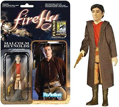 Firefly Browncoat Malcolm Reynolds ReAction 3 3/4 Retro Action Figrue - Previews SDCC Exclusive