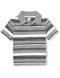 ec700e018 Baby Boys  Short Sleeve Stripe Jersey Polo