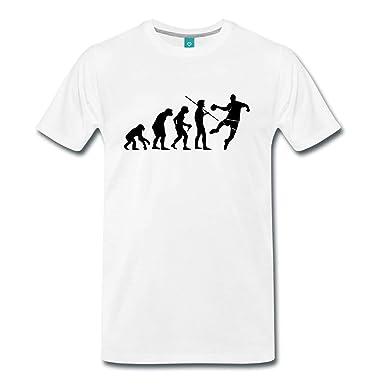 Spreadshirt Évolution Du Singe Au Joueur De Handball T-shirt Premium Homme   Amazon.fr  Vêtements et accessoires 085d2a380284