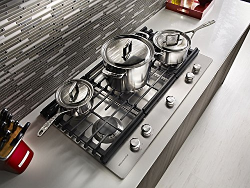 "KITCHENAID KCGS350ESS 30"" Gas Cooktop With 5 Sealed"