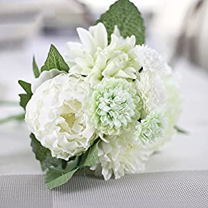 DHD Wedding Bride Hand Bouquet Rosemary Peony Flower Bouquet Vivifying Flower Home Furnishing And Decorative Flower 6