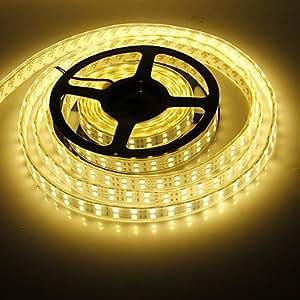 Leedfsw Waterproof 5M 120W 120x5050SMD 6000-7200LM 3000-3500K Warm White light LED Strip Light (DC12V)