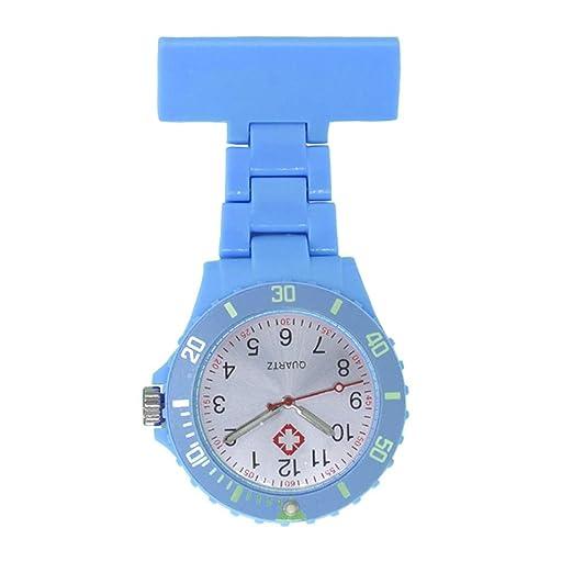 EATHGL Broche de la Enfermera, Brillo en la Oscuridad, Cuidado de la Salud Reloj de la Enfermera Reloj de Bolsillo Reloj de Regalo Nurse Lapel Pin Watch ...