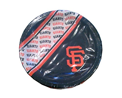 MLB San Francisco Giants Disposable Paper Plates- 20 PK