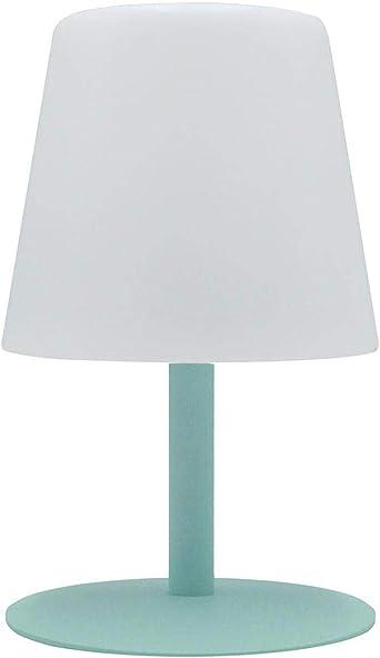Lumisky - Lámpara de mesa de jardín con luz blanca inalámbrica con batería STANDY Mini Rock con LED 26 cm, color blanco, ABS acero, verde, 15x15xH26: Amazon.es: Iluminación