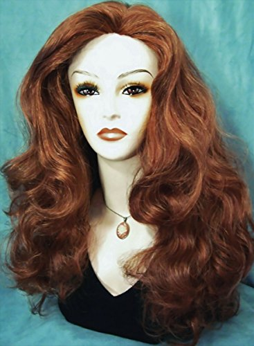 CASSIE Skin Top Wavy Wig by Mona Lisa - 27A Strawberry-Copper Blonde