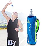 Tsptool Portable Adjustable Strap Hand Water Bottle Holder Bag for Running Marathon Sports 500ml