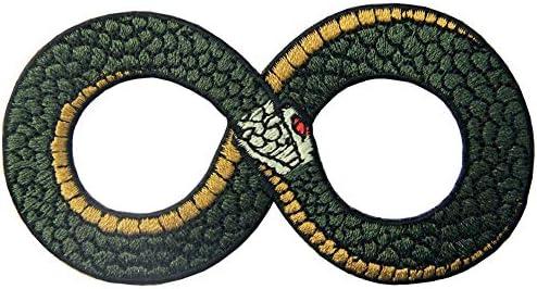 無限シンボル刺繍のバッジのアイロン付けまたは縫い付けるワッペン
