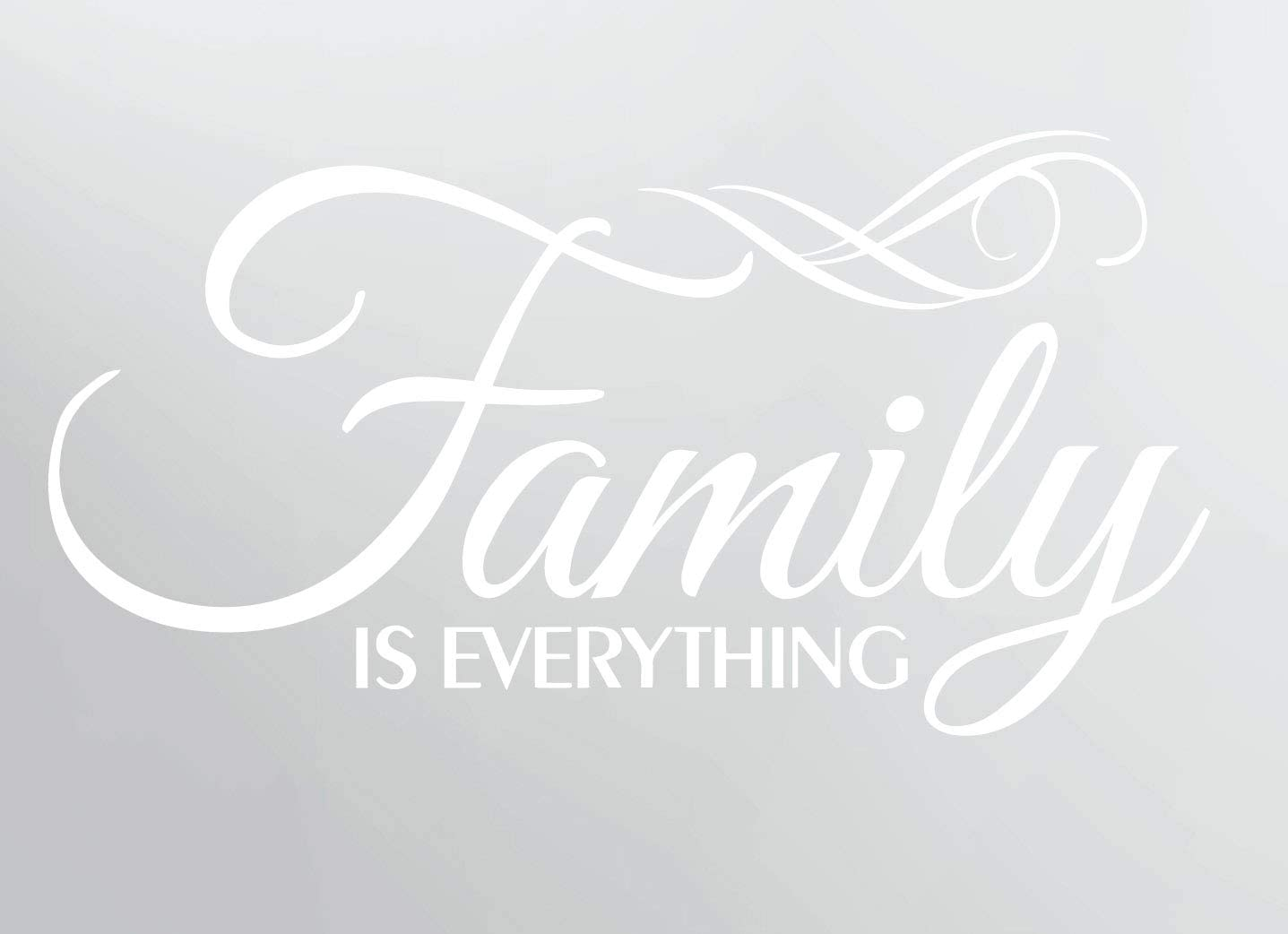 Family is Everything Wall Decor Decal Quote Word Vinyl Sticker Family Decals for Wall Room Art Decoration #3071 (Matte White)