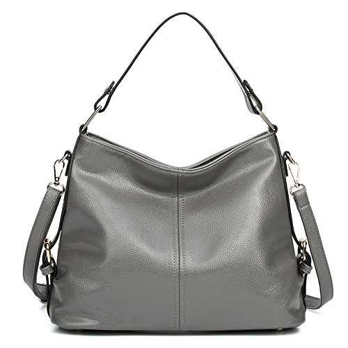 Synthetic Handbag Tote Shoulder Obosoyo Bags Hot Soft Women's Grey2 Leather ECwIxq5