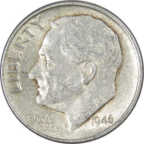 1946-D 10c Roosevelt Silver Dime Average Circulated