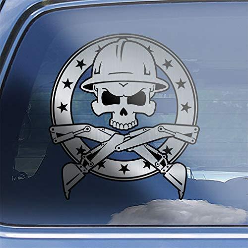 CR Excavator Skull /& Crossbones Decal Sticker