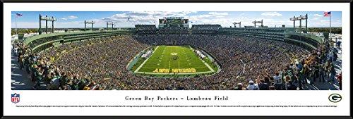 Lambeau Field Framed - Green Bay Packers - End Zone at Lambeau Field - Panoramic Print