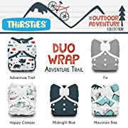 Thirsties Package, Duo Wrap Hook & Loop, Outdoor Adventure Collection Adventure Trail Size 2