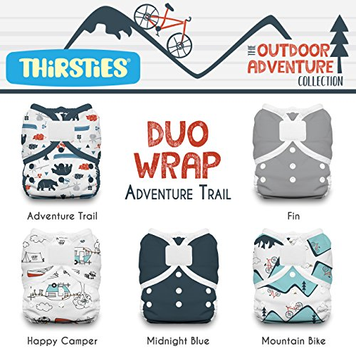 - Thirsties Package, Duo Wrap Hook & Loop, Outdoor Adventure Collection Adventure Trail Size 1