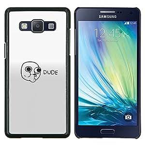 Qstar Arte & diseño plástico duro Fundas Cover Cubre Hard Case Cover para Samsung Galaxy A5 A5000 (Cara Amigo - Lol Rollo Wtf Meme)