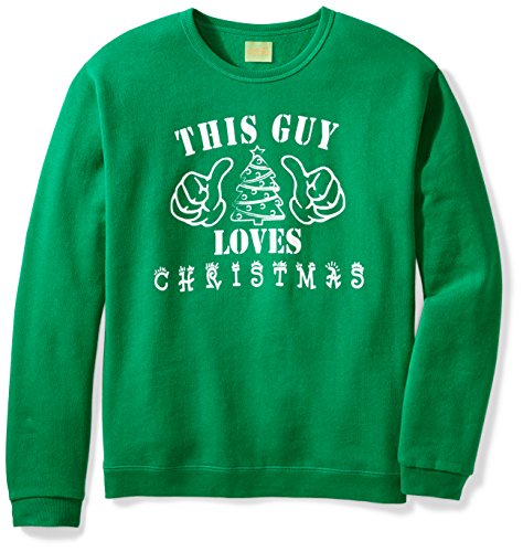 Ugly Fair Isle Unisex Fleece This Guy Loves Christmas Crewneck Sweatshirt Medium (Neck Jumper)