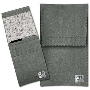 SIMON PIKE Cáscara Funda de móvil Sidney 11 gris elefante LG GT350 Town Glossy Fieltro de lana