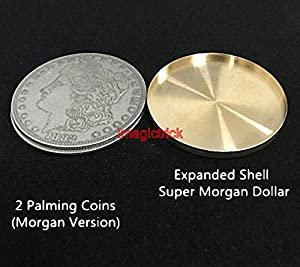 2 pcs Expanded Shell For Morgan Dollar - Magic Trick / Coin&Money Tricks