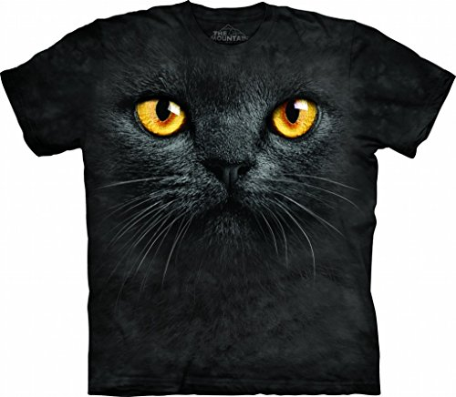 The Mountain Black Cat Face Adult T-shirt S -