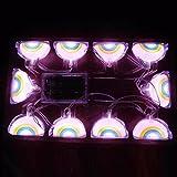 Rumas Remote Control LED Night Light String, Cartoon Rainbow Twinkle Lamp Decor for Babies Room Kindergarten Festivals Theme Restaurant (B)