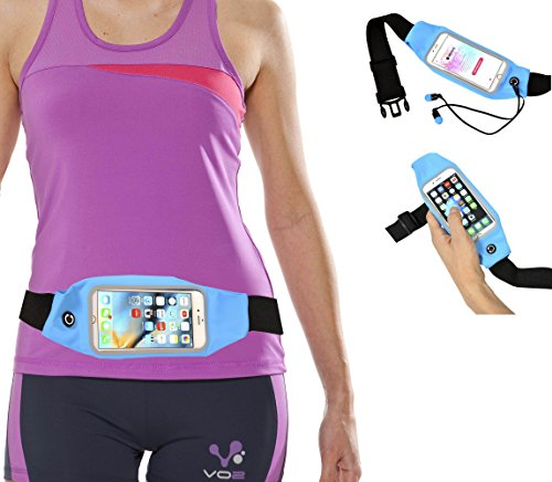 TARGET Running Waist Packs, Outdoor Sports Gym Anti-sweat Belt Waist Packs with Clear Touch Screen Windows for 5.5 inch iphone 7 7plus 6 6s Plus Samsung Galaxy S6 Edge S5 S4 Note 5 4 3 inch, Blue Review