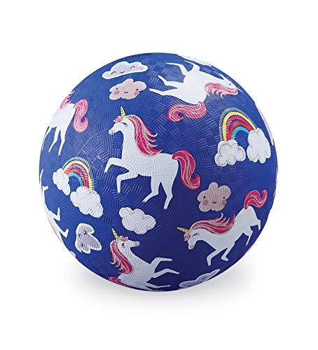 Crocodile Creek – Unicorns – Rubber Playground Ball, 5″, for Kids Ages 3 & Up