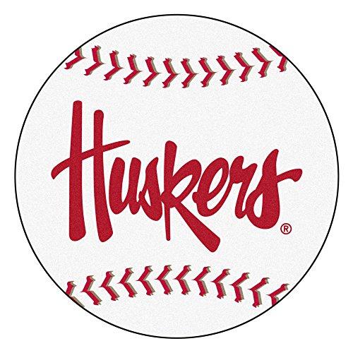 Fan Mats University of Nebraska Huskers Baseball Area Rug