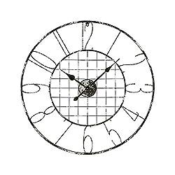 Sterling Industries 3138-430 Fleet Street - 36 Wall Clock, Grey Iron/Distressed Silver Finish