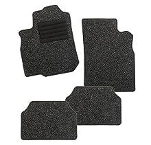 CarFashion 255069 Juego de alfombrillas, 4 piezas, Negro