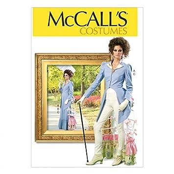McCall \'s Damen Schnittmuster 7140 Steampunk Jacke und Rock Kostüm ...
