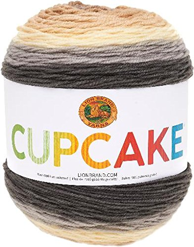 Coffee Cupcake - Lion Brand Yarn 935-220 Cupcake Yarn, Coffee Break