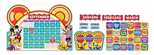 Eureka Mickey Mouse Classroom Calendar Teacher Supplies, 0.1'' x 18'' x 28'', 110pc ()