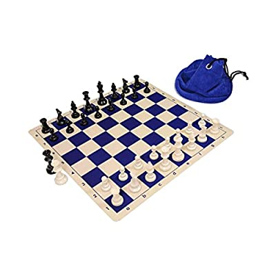 Wholesale Chess Triple Weighted Staunton Silicone Set - Blue