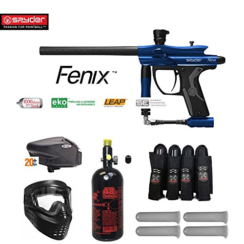 MAddog Spyder Fenix Expert Paintball Gun Package - Blue